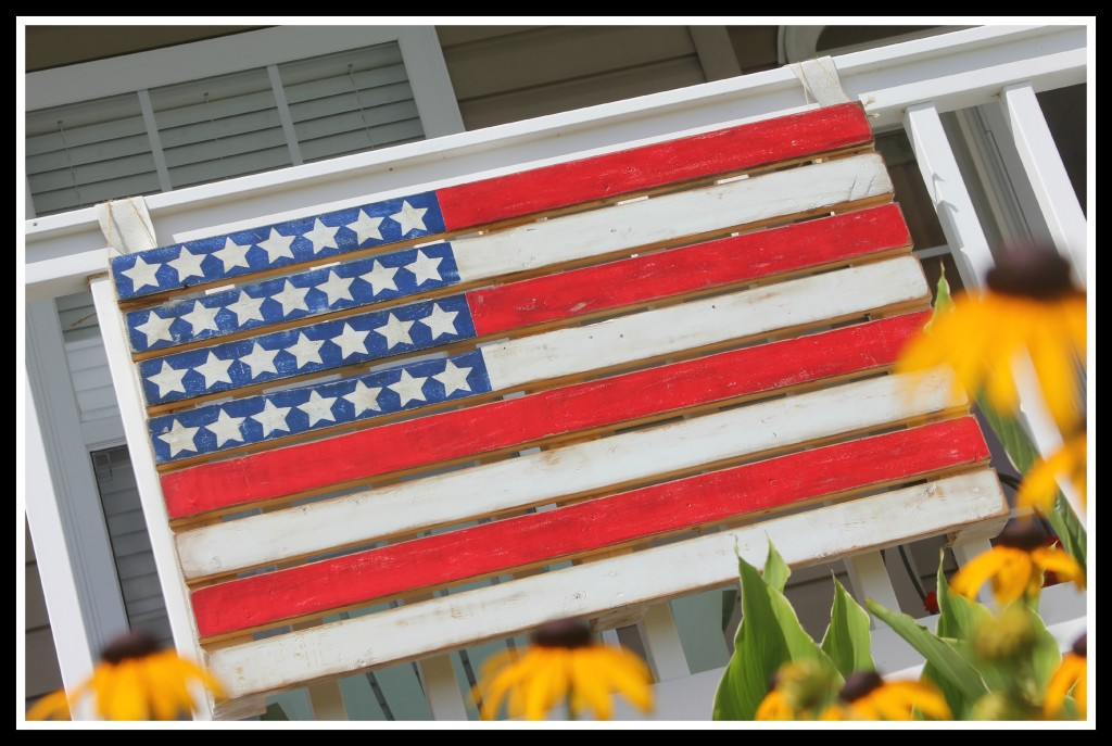 American Flag from a pallet