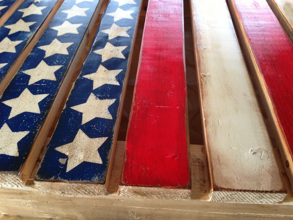 Stained pallet flag