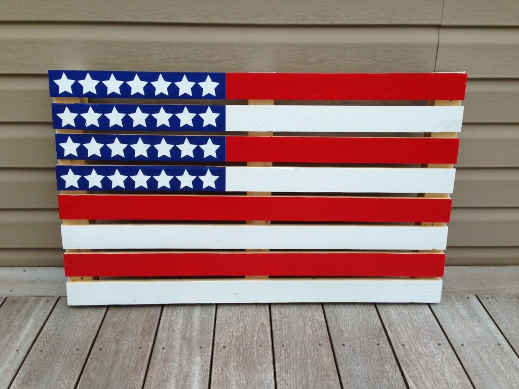 Finished pallet flag