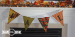 No Sew Fall Pennant Banner