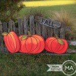 Pumpkin Yard Art From Recycled Wood