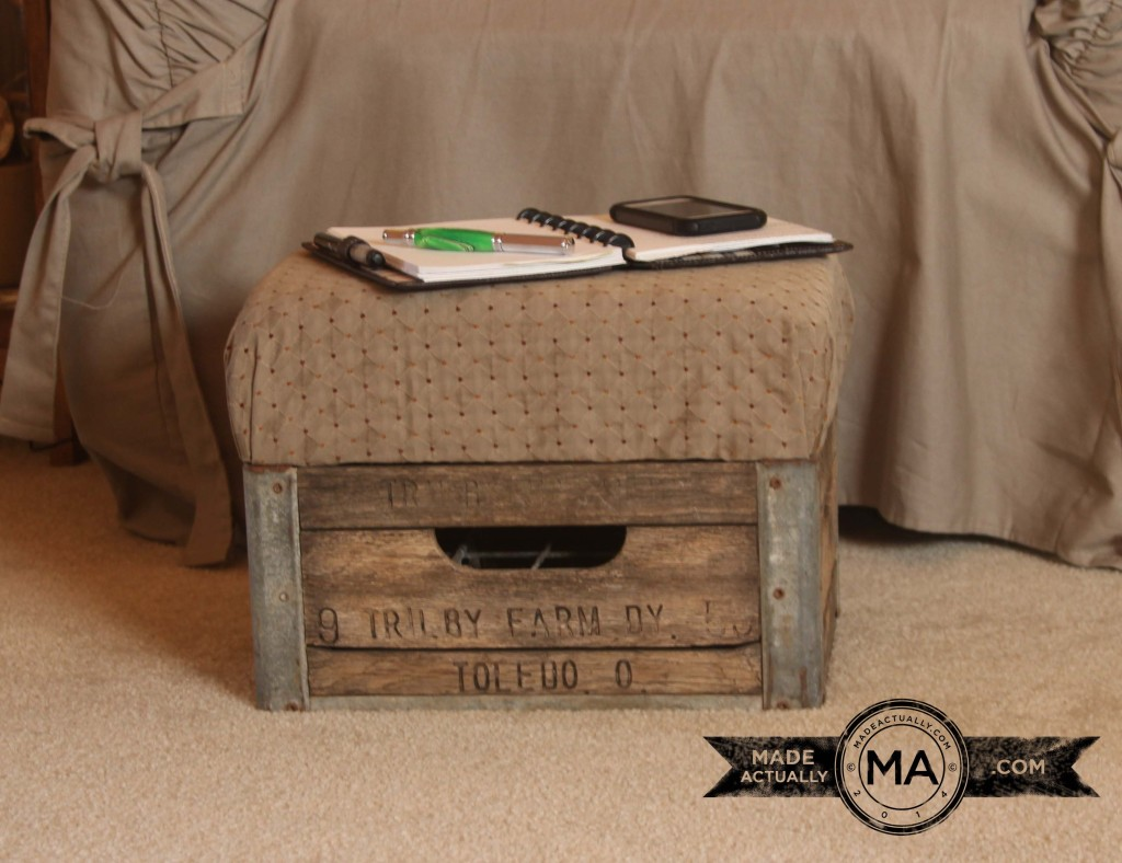 Antique Milk Crate Footstool