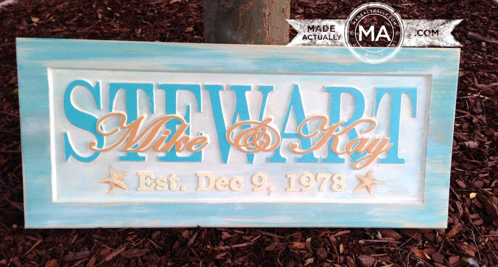 Customized Anniversary Signs