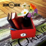 Upcycled Wood Flooring Boxes DIY