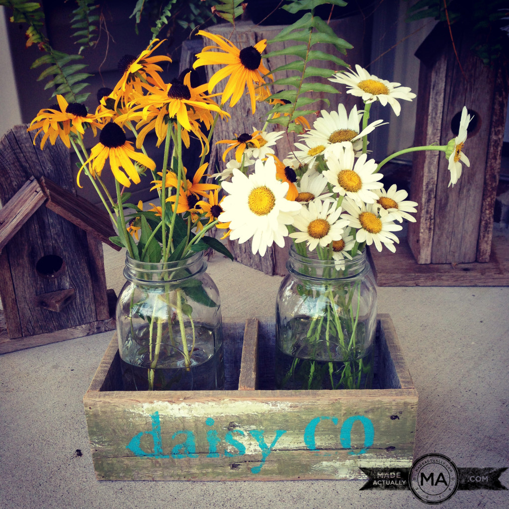 Daisy Crate before the daisy was stenciled