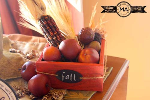 Fall Tablescape. This is my tea cart.