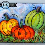 Tissue Paper Pumpkins on Canvas