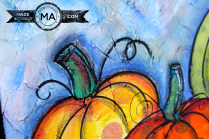 Pumpkin Painting Using Tissue Paper