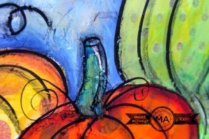 How to make a pumpkin painting using tissue paper