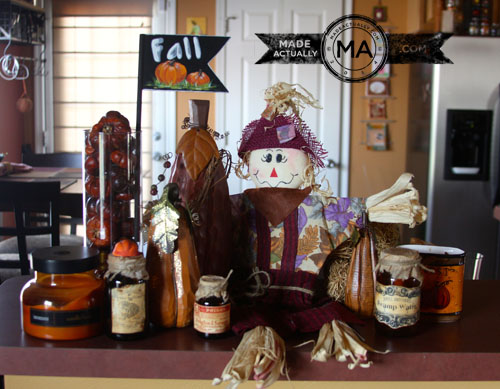 Fall decorations on my kitchen bar space