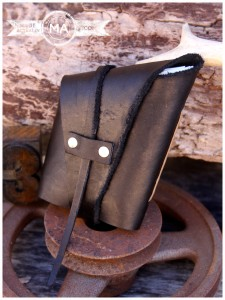 Black Handmade Leather Wrap Journal