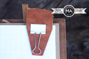 Binder Clip Dressed in Leather