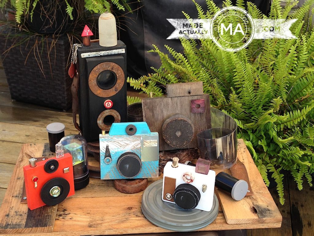 Wooden Cameras Made From Recycled Wood